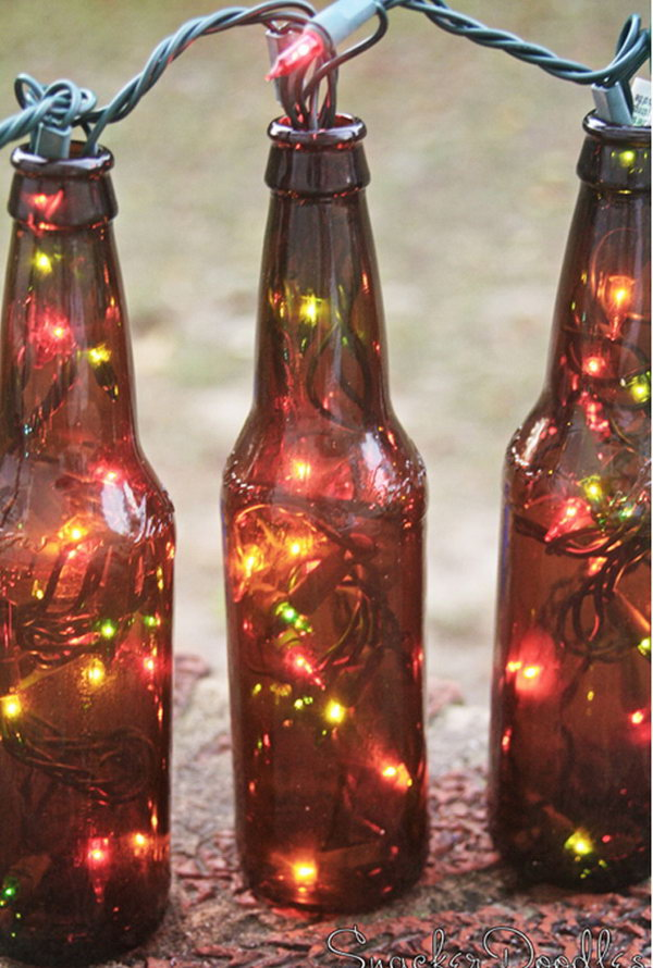 18 Awesome Beer Bottle Craft Tutorials & Ideas