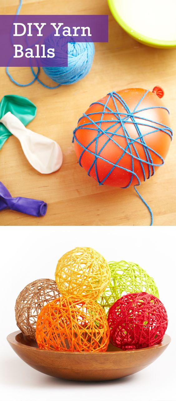 Add a festive touch to your home décor by crafting a few of these adorable DIY yarn balls